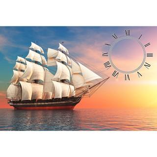 Tranh đồng hồ Thuyền buồm DH_017