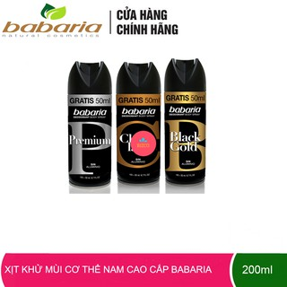 Xịt khử mùi cơ thể Nam cao cấp Babaria nhập khẩu chính hãng Tây Ban Nha 200ml