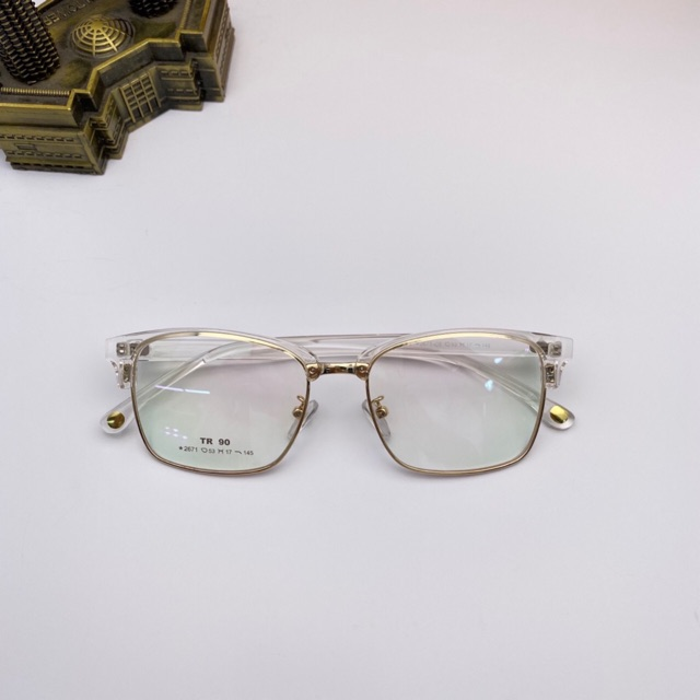 💝💖 Gọng kính kim loại vuông thời trang nam nữ 2671 - Tiệm kính Shop 💝💖