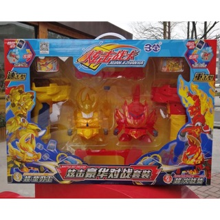 Bá vương xạ thủ hộp 2 con kị sĩ bão lửa và kim nhẫn vương [ súng bắn thẻ bài cao cấp ]