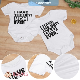 『BSUNS』 Soft Breathable White Blue Short Sleeve Romper Jumpsuit Baby's Sets