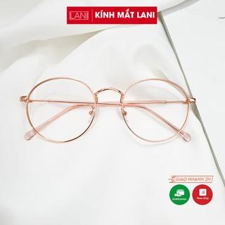 Gọng kính cận nam nữ tròn to vintage, kim loại nhiều màu dễ đeo thời trang ulzzang Lani 2297 - Lắp Kính Mắt Theo Yêu Cầu thumbnail