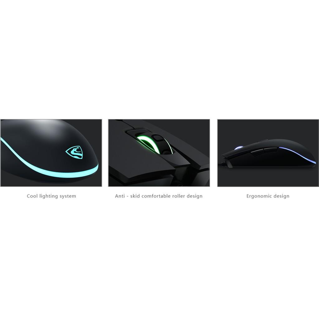 Mouse Chuột máy tính có dây chuyên dành chơi game FL Esport G52 màu đen có đèn led cổng usb 2.0