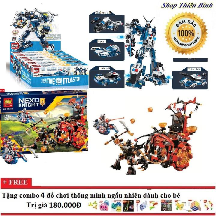 Lego xếp hình combo 2 bộ Robot quái vật - 3406201 , 887646081 , 322_887646081 , 1090000 , Lego-xep-hinh-combo-2-bo-Robot-quai-vat-322_887646081 , shopee.vn , Lego xếp hình combo 2 bộ Robot quái vật
