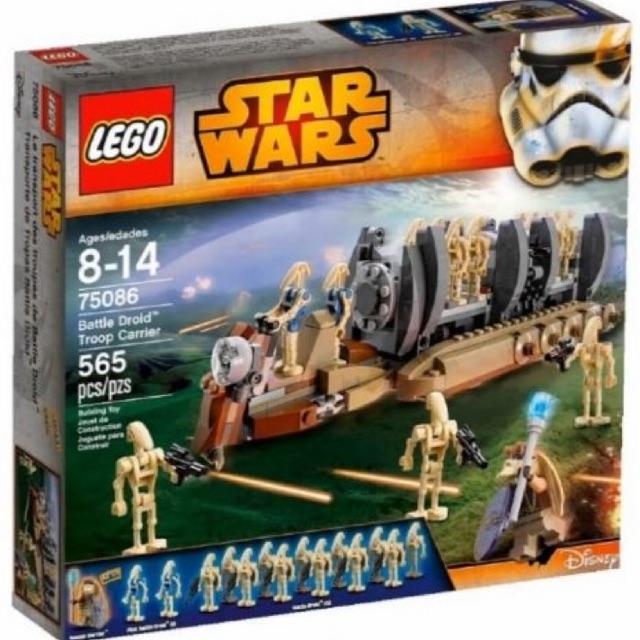 Lego Star Wars 75086 – Battle Droid Troop Carier – Bộ xếp hình Lego Xe chở lính của binh đoàn robot