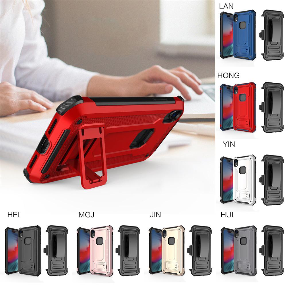 Rugged Case 360° Belt Clip Holster For Apple iPhone XS max 7 Colors