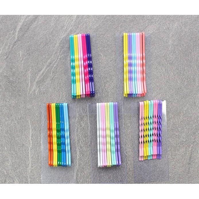 Kẹp tăm 7 màu Hàn Quốc siêu đẹp (vỉ 10 kẹp) [Đơn 50k tặng phần quà thú vị]
