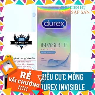 [ GIÁ SỈ ] Bao Cao Su SIÊU CỰC MỎNG Durex INVISIBLE Hộp 10 Cái