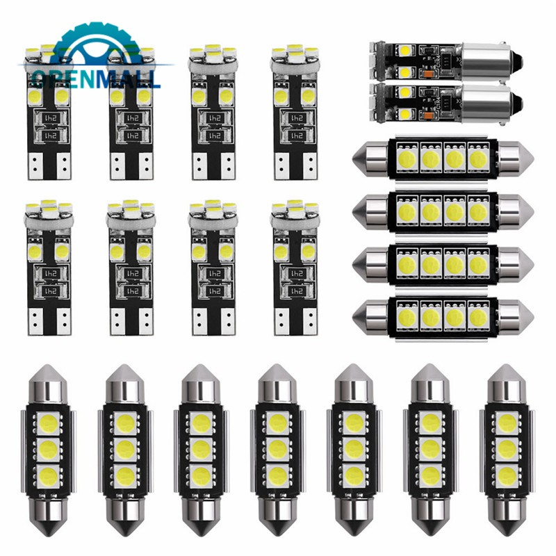 OM 21Pcs Car LED Interior Light Dome Lamp Kit License Plate Light Bulbs