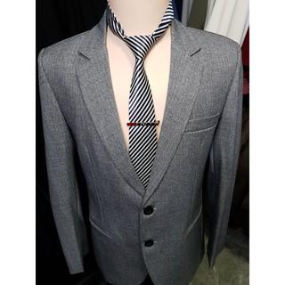 Yêu ThíchBộ vest nam trung niên 2 nút màu xám ghi chất liệu vải bố dày mịn