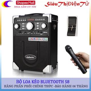 Loa kéo DAILE  S8 có mic bluetooth-Tặng Míc Không Dây