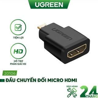 Đầu chuyển đổi micro HDMI male to hdmi female - UGREEN 20106 - (màu đen)
