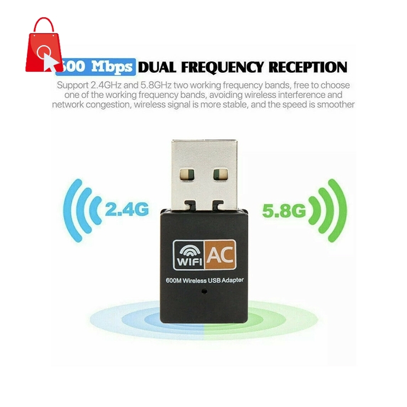 Usb Wifi Dongle 802.11 Ac Laptop Pc Jp1 600 Mbps 2.4-5ghz
