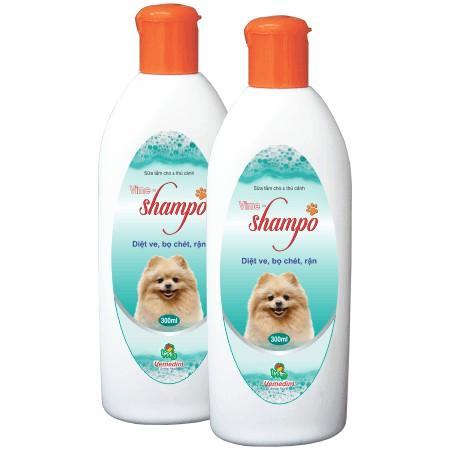 Sữa tắm cho chó mèo diệt ve, rận, bọ chét Vime Shampo