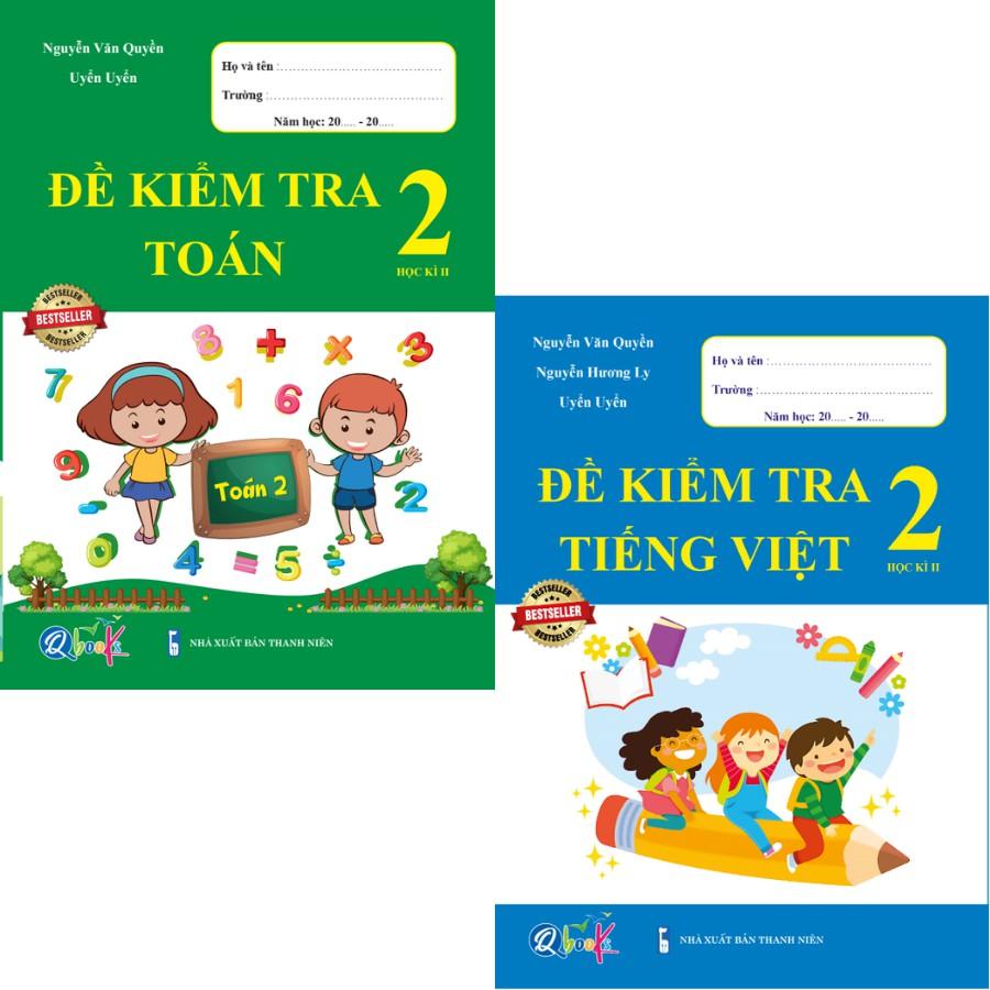 Sách - Combo Đề Kiểm Tra Toán và Tiếng Việt 2 - Học Kì 2 (2 cuốn)