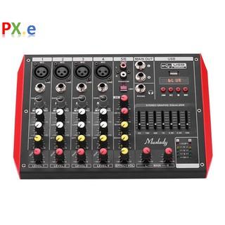 Bộ trộn âm Muslady D6 Portable 6-Channel Mixing Console, tích hợp bộ lọc âm 7 thang, Bluetooth, nhạc USB thumbnail