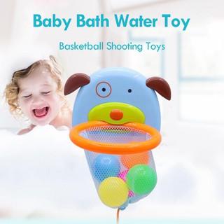 ★Lp★Baby Bath Water Toy Marine Play Water Throw Basket Basketball Shooting Toys