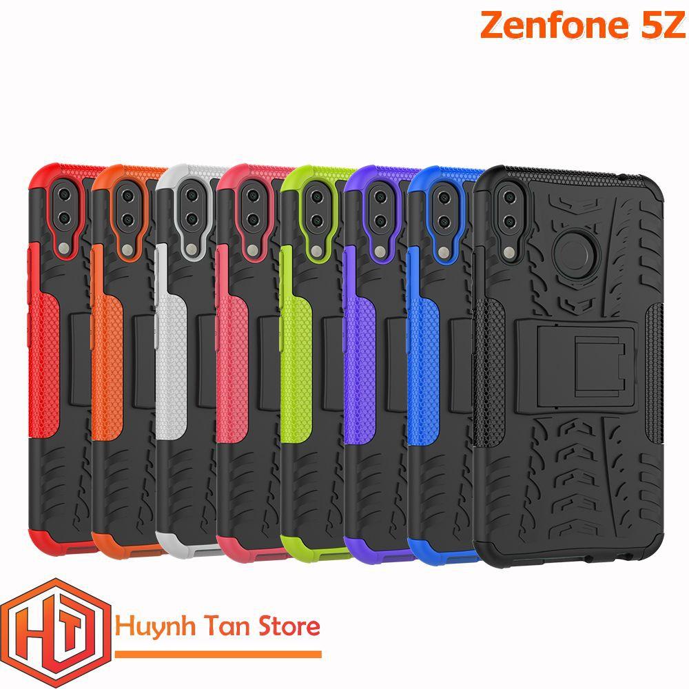 Zenfone 5Z _ Ốp lưng chống sốc giáp chân chống