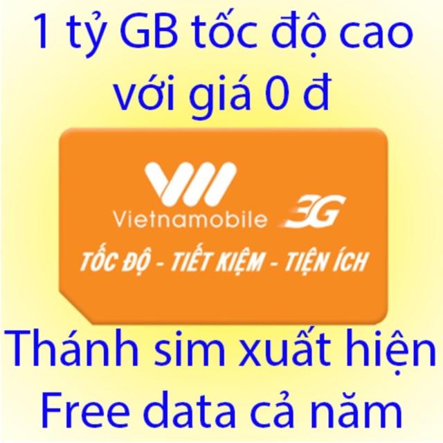 sim 3G vietnammobile Free Data 6 tháng