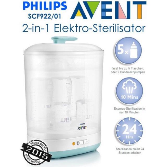Máy Tiệt Trùng Bình Sữa 2in1 Philips Avent SCF922/03