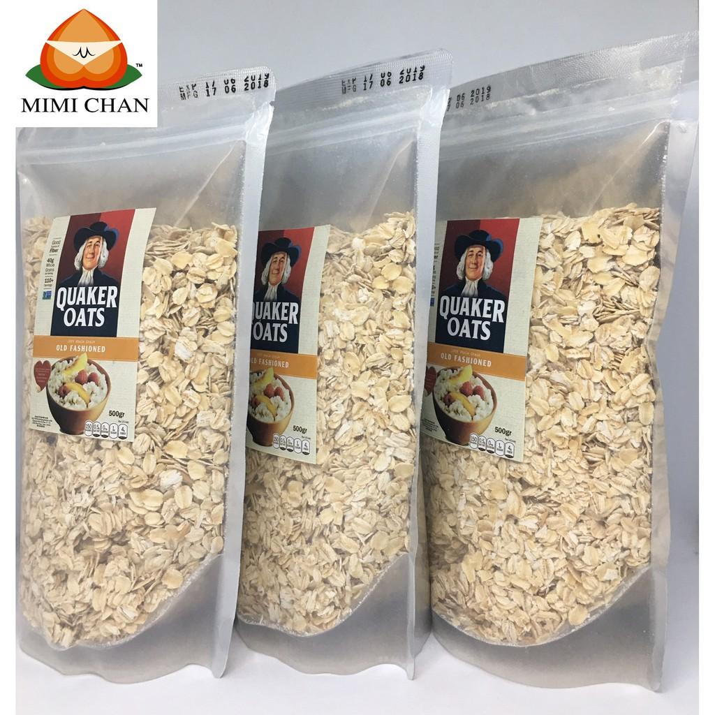 1,5kg Yến Mạch Quaker Oats Mỹ Túi Zip Nguyên chất 1,5kg Yến Mạch Quaker Oats Mỹ Túi Zip Nguyên chất
