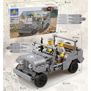 Đồ chơi Lego lắp ráp Xe Jeep quân đội
