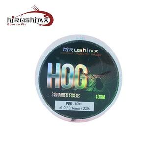 Dây câu Hirushima Hog Fishing Line màu cam 8 lõi chuyên câu Lure thumbnail