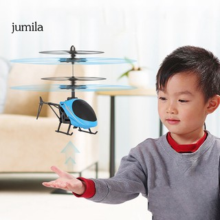 JUL USB Rechargeable Infrared Induction Helicopter Hand Suspension Aircraft Kids Toy