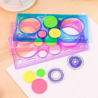 Spirograph Model Ruler Beauty Plastic 20cm Correction Master Set