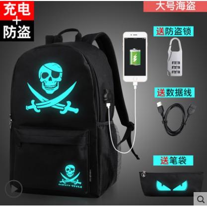 Balo phát quang giá rẻ kèm cáp sạc USB, túi chéo