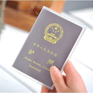 Vỏ bọc hộ chiếu trong suốt PVC chống thấm nước