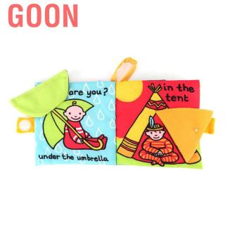Goon Colorful Cloth Cotton Blend 3D Book Animal Tail Toy Early Educational Kids Children