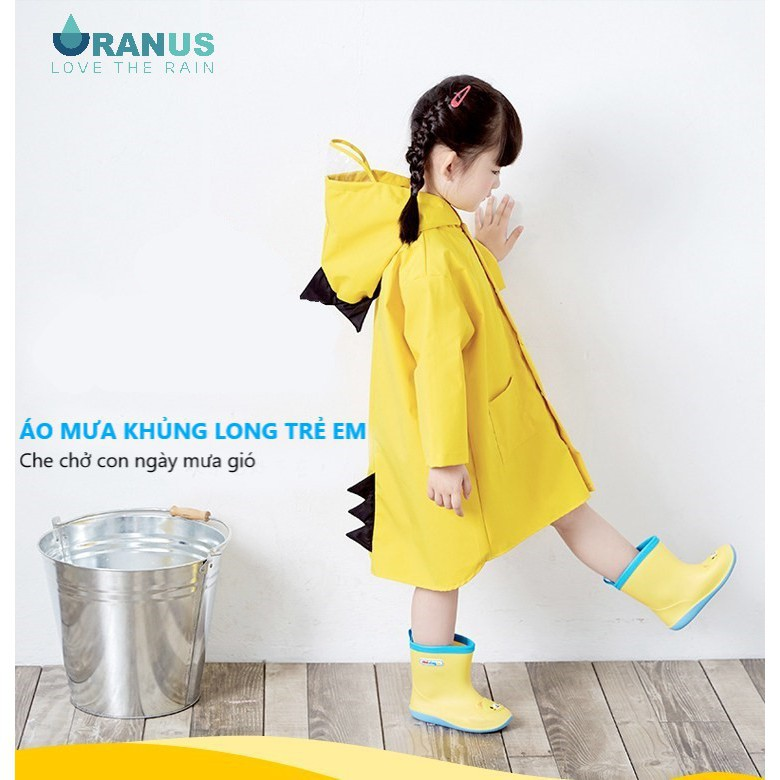 Áo mưa khủng long cho bé 3-6 tuổi