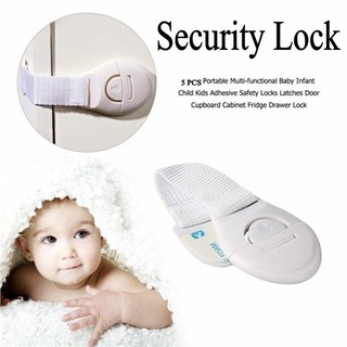 5PCS Safety Child Infant Baby Kids Drawer Door Cabinet Cupboard Toddler Locks US thumbnail