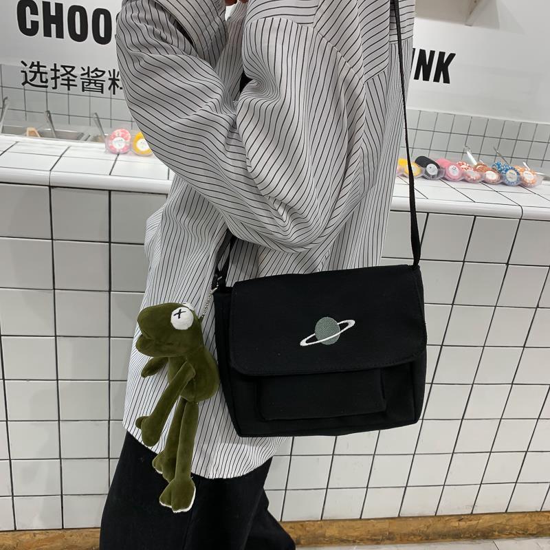 Túi Vải Canvas Đeo Vai Phong Cách Hàn Quốc Dành Cho Nữ