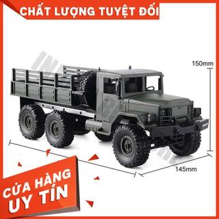 [GIÁ GỐC] Xe điều khiển quân sự military truck chạy 6wd size to 1/16SIÊU HOT