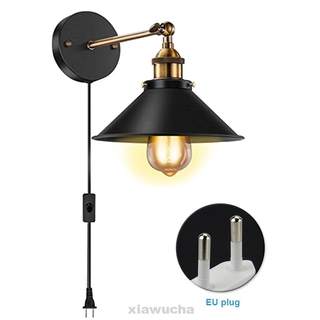 Outdoor Garden Landscape Home Decor Plug In Lighting Fixture Industrial Vintage With LED Bulb Black Hardwire Wall Lamp