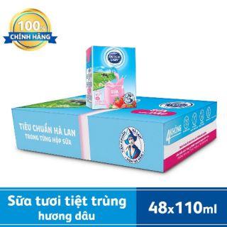 Sữa Tươi Cô gái Hà Lan hương dâu 110ml (48 hộp x 110)