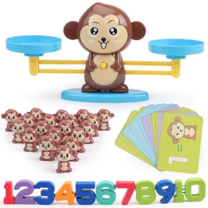 Đồ chơi khỉ cân bằng, Cân toán học cho bé