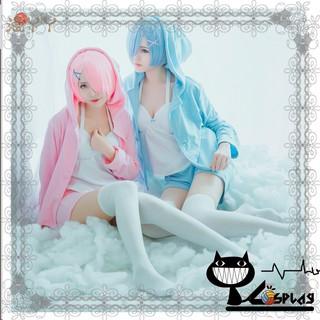 Costume and wig cosplay Ram / Rem ver neko ( Quần áo và tóc giả hóa trang Ram / Rem ver neko )