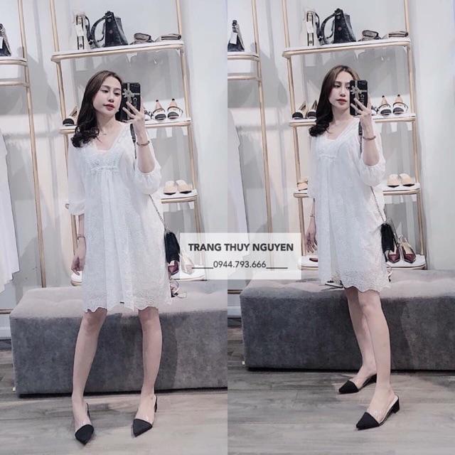 Váy voan trắng ph