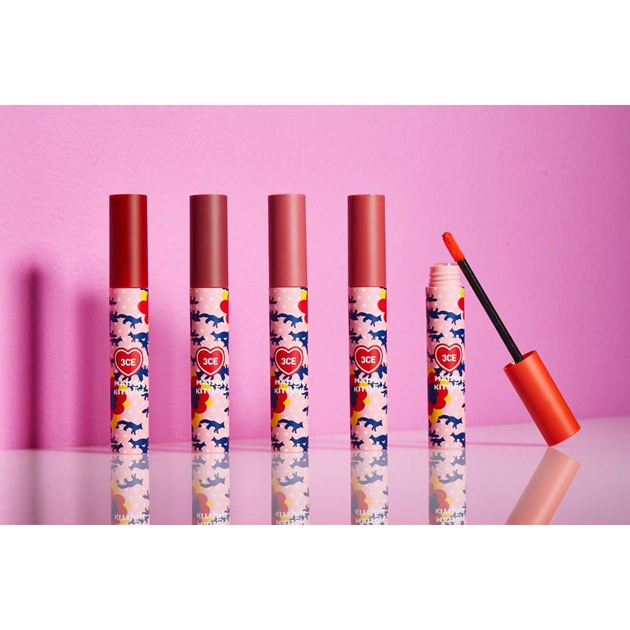 Son kem lỳ 3CE Maison Kitsune Velvet Lip Tint