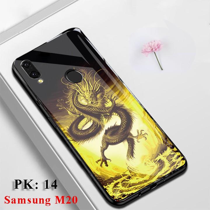 [Mẫu Hot] Ốp lưng Samsung M20 in hoa văn - Freeship - Vỏ Case Samsung M20 mặt kính cường lực sang trọng, chống trầy xước
