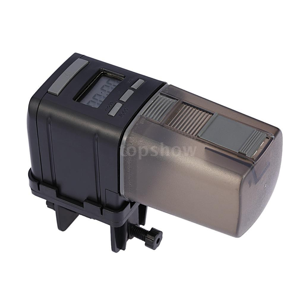 Tsm LCD Automatic Fish Feeder Aquarium Tank Auto Food Timer Feeding Dispenser Adjustable Outlet