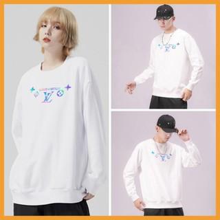 Áo Sweater nỉ -️/Áo nỉ Ulzzang phản quang unisex dài tay cho nam và nữ – Louis 4 Logo /Freeship 99k – AS64