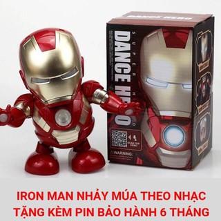 [HCM] Đồ Chơi Siêu Nhân Iron Man loại đắt-Mở Mặt-Có Nhạc-Nhảy Múa-Có Đèn Led Nhấp Nháy Rất Đẹp ( Nhựa ABS An Toàn)