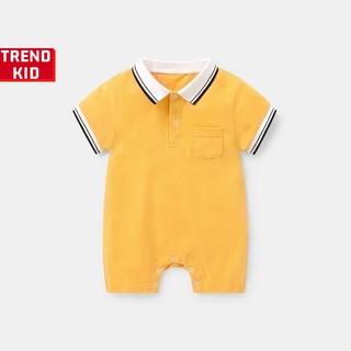 [Mã TREND20 giảm 15% đơn 99K] Bộ liền có cổ cho trẻ sơ sinh màu vàng Michley