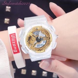 [Tặng pin thay thế] Đồng hồ thể thao nam nữ Shhors Sport Watch điện tử dây cao su chống nước chống xước tốt