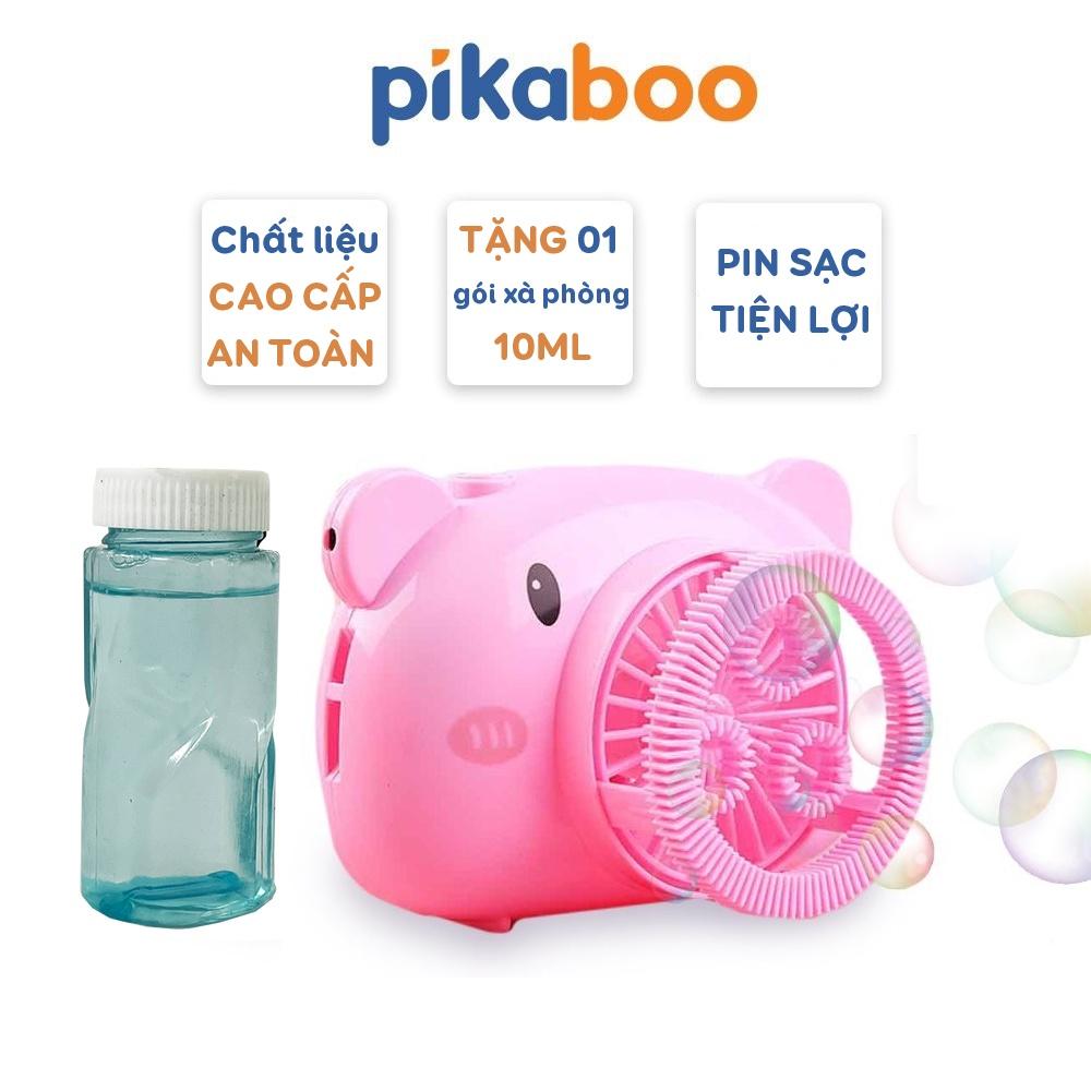 Máy ảnh thổi bong bóng xà phòng tự động Pikaboo cao cấp thiết kế sạc pin kèm dây đeo, làm từ nhựa ABS an toàn cho bé