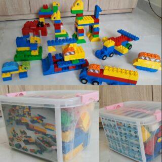 BỘ LEGO LẮP RÁP SÁNG TẠO(LOẠI LỚN 136 chi tiết)[kèm hộp][ảnh thật][cùng cỡ duplo]